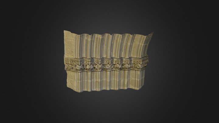 Detalle del Pórtico de Santa María La Mayor. 3D Model