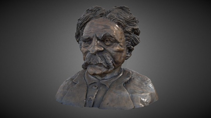 Mark Twain Bust 3D Model