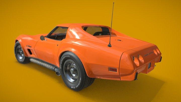 75' Vette 3D Model