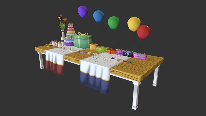 Scene Probs Table 3D Model