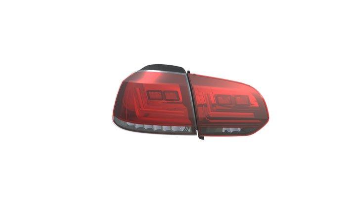 LEDriving Tail Light for VW Golf VI 3D Model