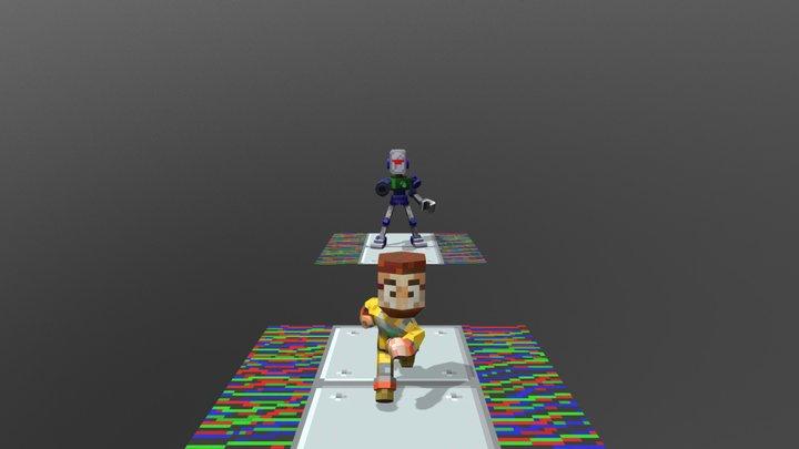 Robot Chase 3D Model