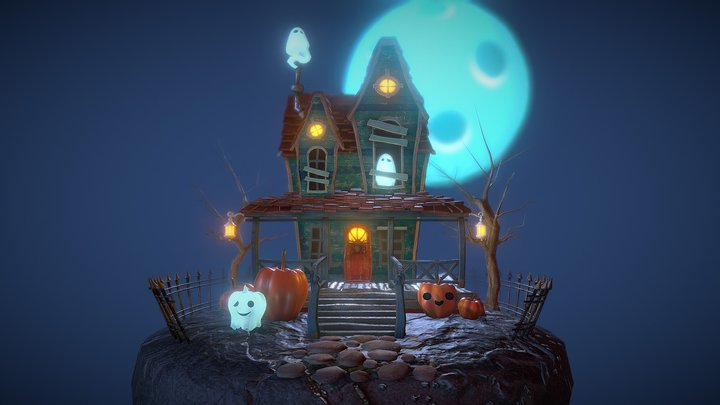 ghost house - Halloween Challenge 3D Model
