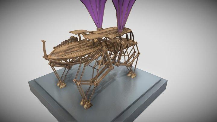 Walker Besouro/ Walker rhinoceros beetle 3D Model
