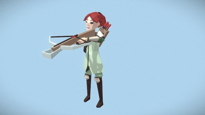 Archer fem attack - Medieval Fantasy Challenge 3D Model