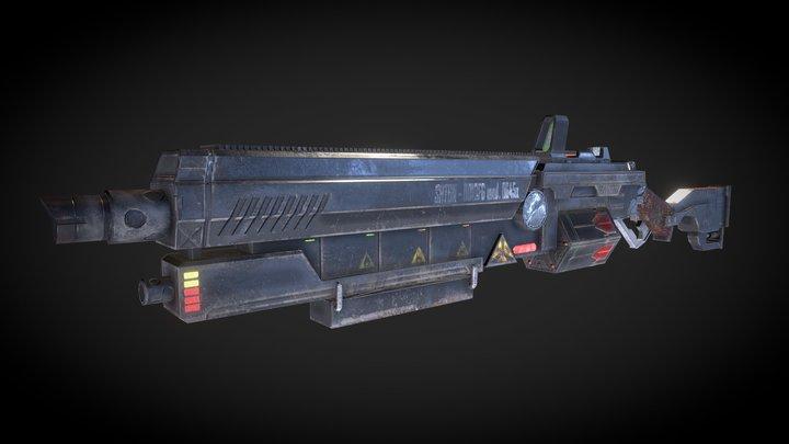 Modified shotgun, concept 3D Model