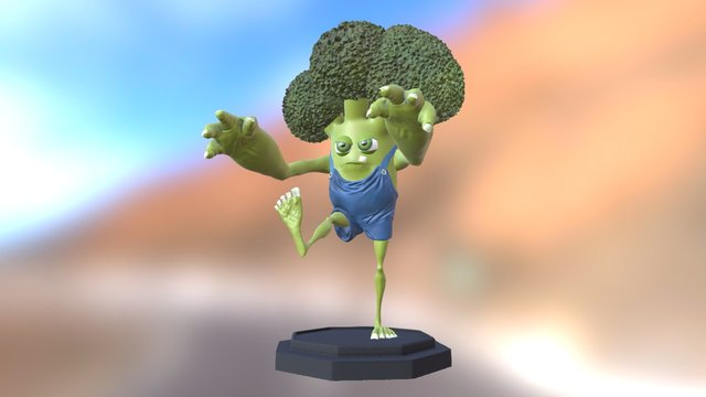 Broccoli man 3D Model