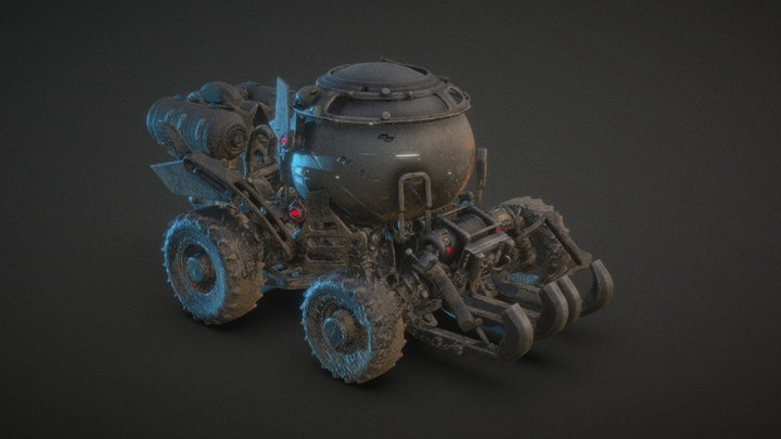 Vehicle from 3D my Graphic Novel 3D Model