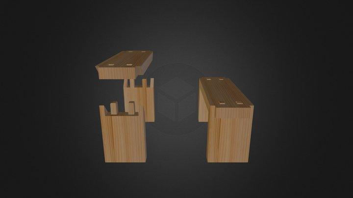 直角接合 3D Model