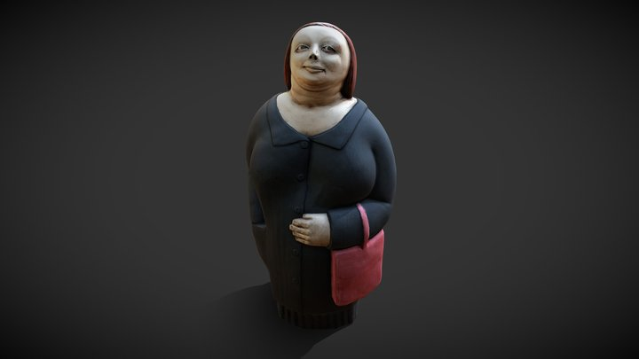 Woman With Bag 3D Model