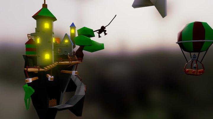 Sky land - #MedievalFantasyScene 3D Model