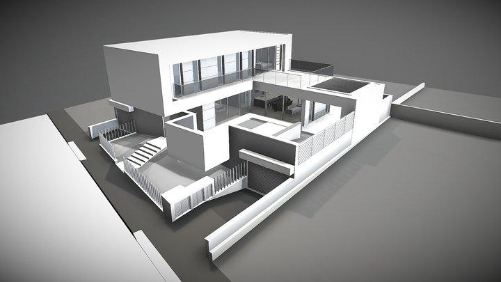 A C House 3D Model