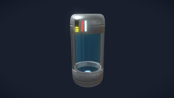 Sci-Fi Cannister 3D Model