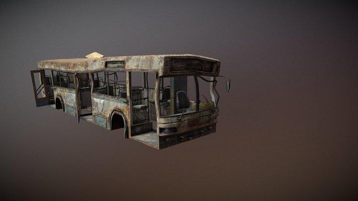 destroyed Bus 01 3D Model