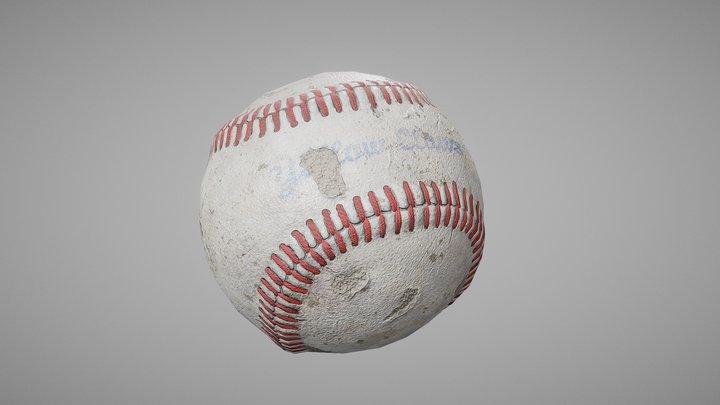 Worn Baseball Ball 3D Model