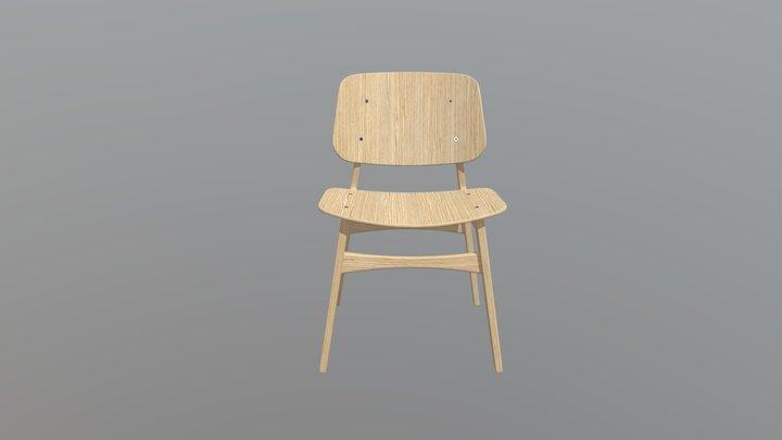 Chair Oak V1 1 3D Model