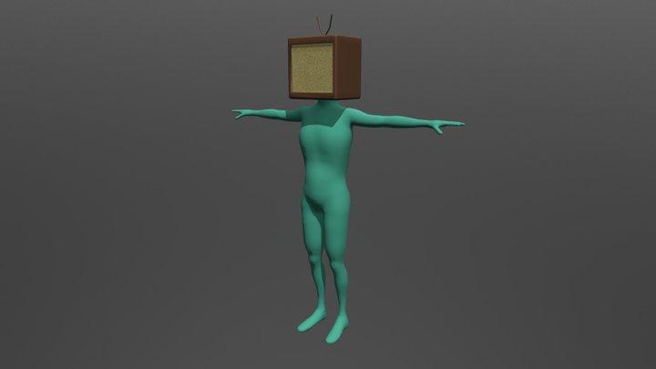 TV Character 3D Model