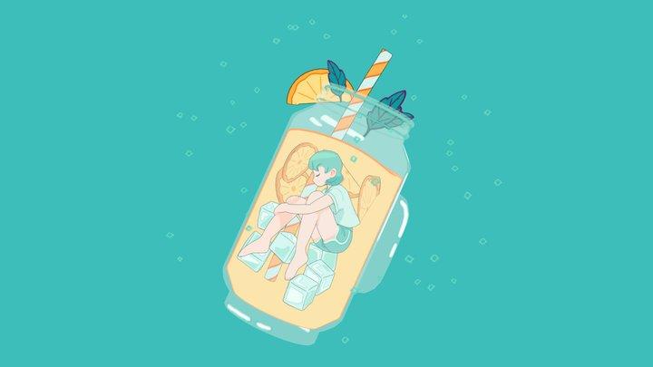 Lemonade Girl 3D Model