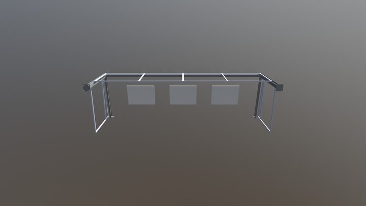House Extension Steel Glass Without Roof 3D Model