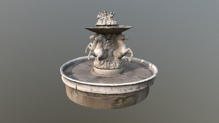 Propuesta reconstrucción Fuente de los Caballos 3D Model
