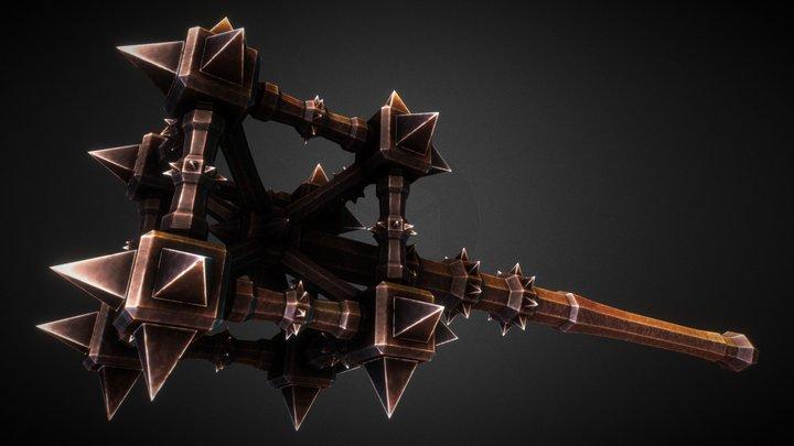 [W010] Multi-Cubic Mace 3D Model