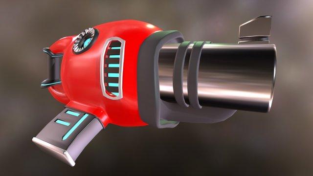 Sci-Fi Shot Gun 3D Model