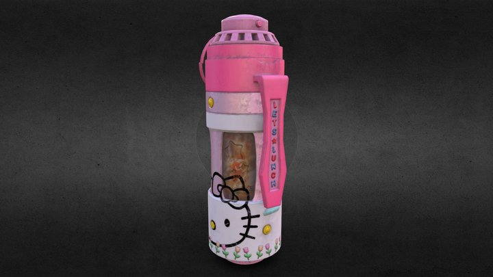 Hello Kitty Soup Thermos Grenade - Polycount 3D Model
