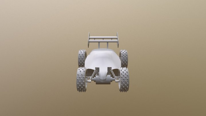 Untextured Racecar (not finished) 3D Model