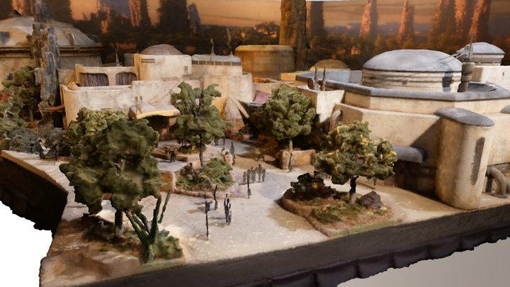 Disneyland-Star-Wars-Land-Model-Section 3D Model