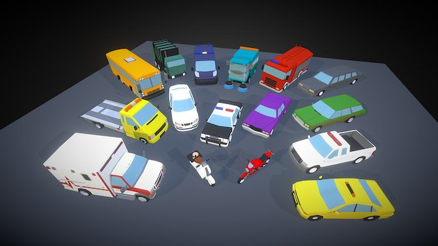 Small Cars - City 3D Model