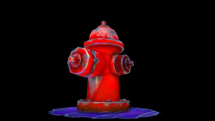 Hidrante Low Poly 3D Model