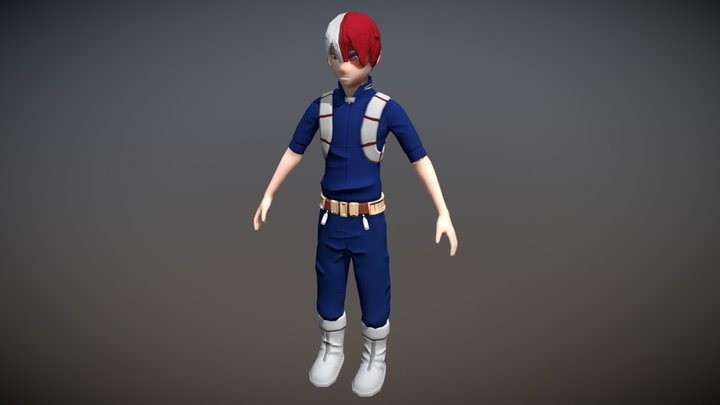 Shoto Todoroki 3D Model