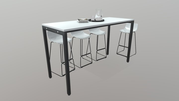 Litewall Counter Table 3D Model