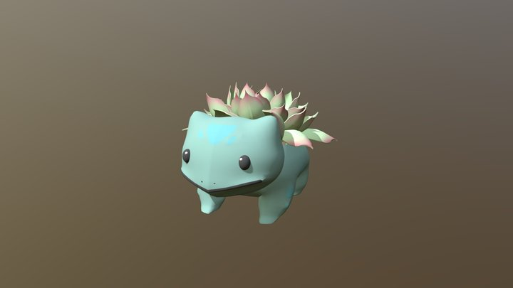 Bulbasaur Succulent 3D Model