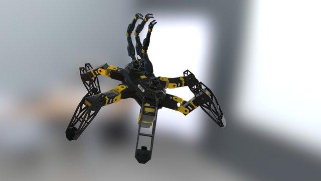 Hexapod Robot 3D Model