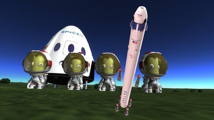 LT SpaceX Dragon V2 3D Model
