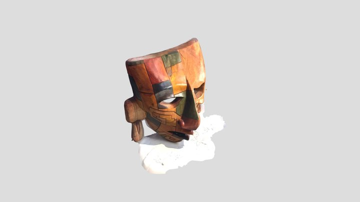 Ancient Mayan Mask 3D Model