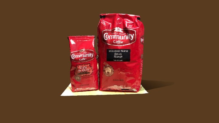 Community Coffee Bags 3D Model