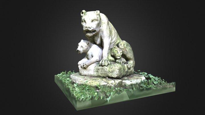 Beast Statue 3D Model