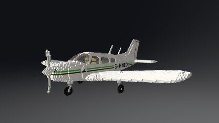 Piper Warrior PA28 3D Model