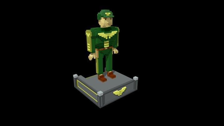 """Sgt Rail"" - Mecha Group - Eagle 3D Model"