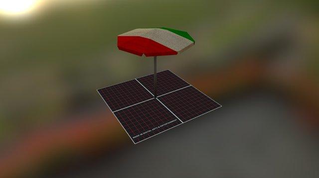 Prop_Parasol 3D Model