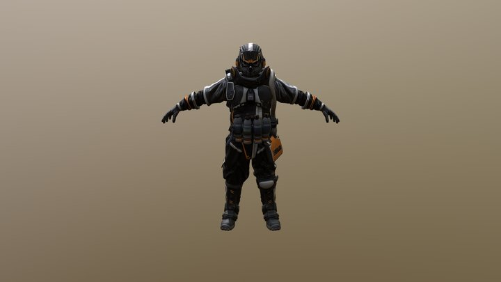 Engineer character sci-fi 3D Model