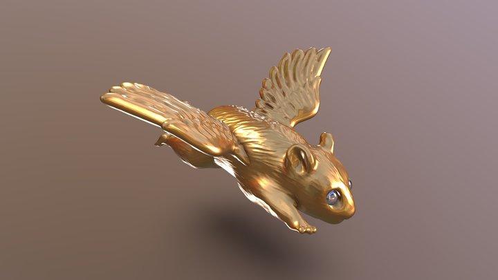 Flying Hamster 3D Model