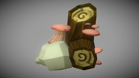 Log Sloped Block 3D Model