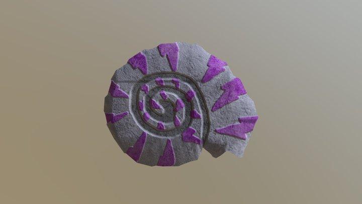 Ammonite Fossil 3D Model