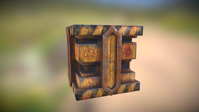 Metal Tech Crate 3D Model