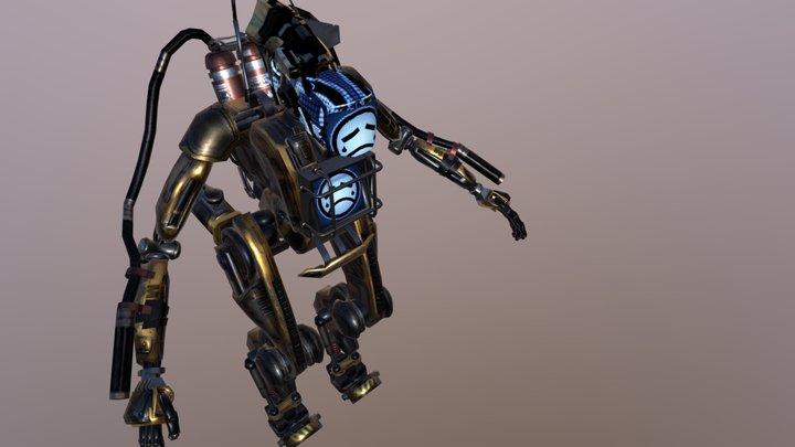 Electronic Face Robot 3D Model