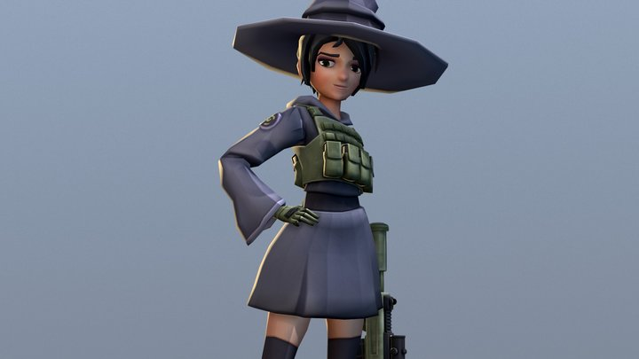 Witchy 3D Model