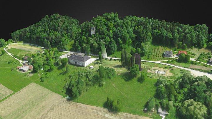 Dvorec Bukovje. Dravograd. Koroska. Slovenija.LQ 3D Model